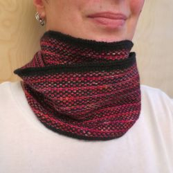 Striped Linen Stitch Cowl