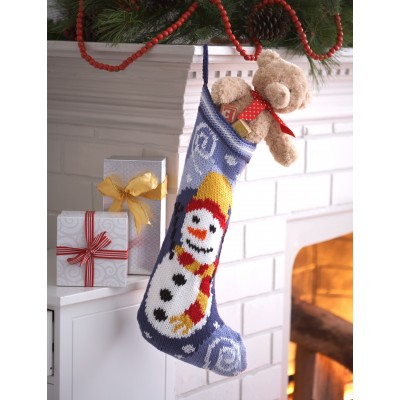 Cutlery Christmas Stocking Knitting Pattern : Knitting Patterns Galore - Snowman Stocking