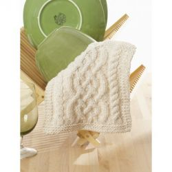 Celtic Cables Dishcloth