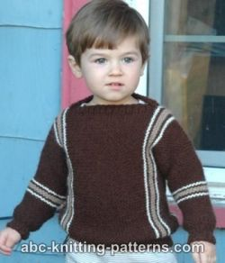 Easy Child's Garter Stitch Cuff-to-Cuff Sweater