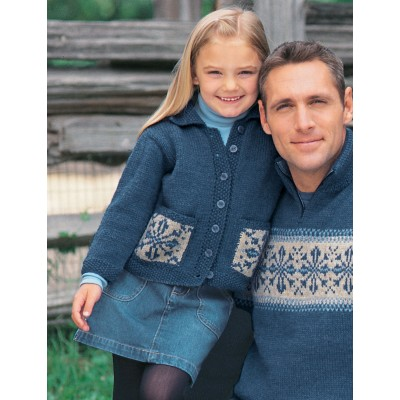 Knitting Patterns Galore Childs Snowflake Sweater