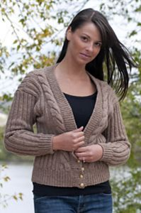 Cardigan With Cable Fronts