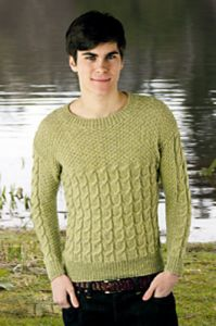 Man's Cabled Sweater