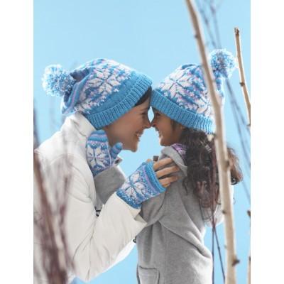 Knitting Patterns Galore - Snowflake Hat and Mittens 4dddaa7790e