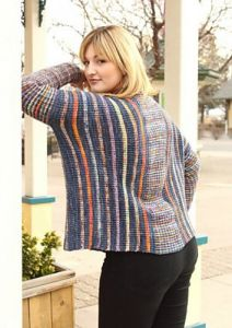 American Merino Striped Poncho