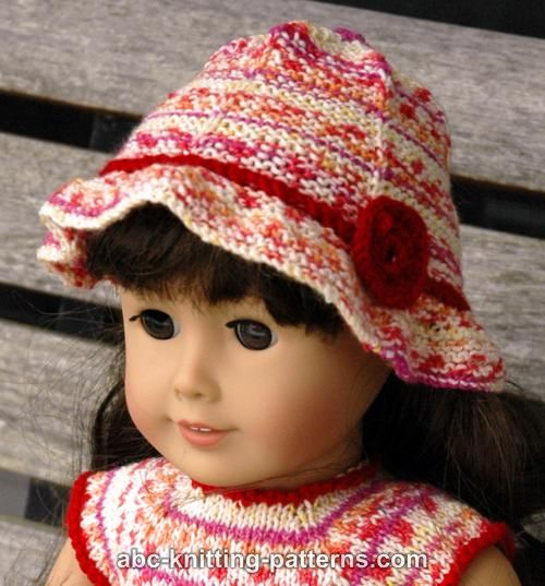 Free Knitting Pattern For Doll Hat : Knitting Patterns Galore - American Girl Doll Carolina Summer Hat