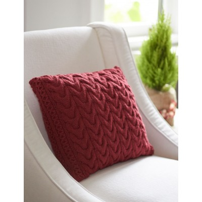 Knitting Patterns Galore Christmas Cables Pillow