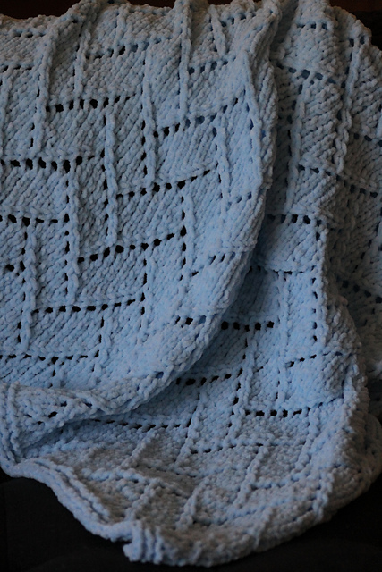 Knitting Patterns Galore Bricklayers Lace Baby Blanket
