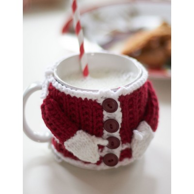 Knitting Patterns Galore Santas Mug Cozy