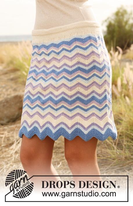 Knitting Patterns Galore - Chevron Skirt