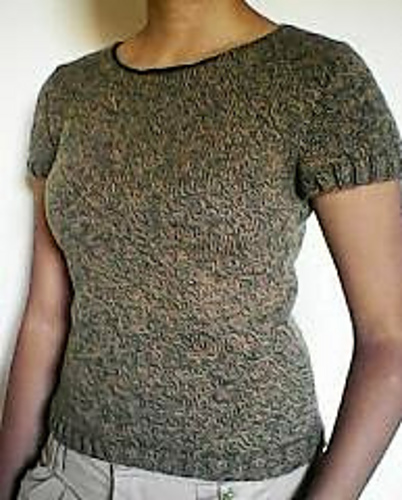Knitting Patterns Galore Simple Short Sleeve Sweater