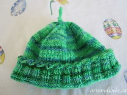 Twisted Cuff Baby Hat