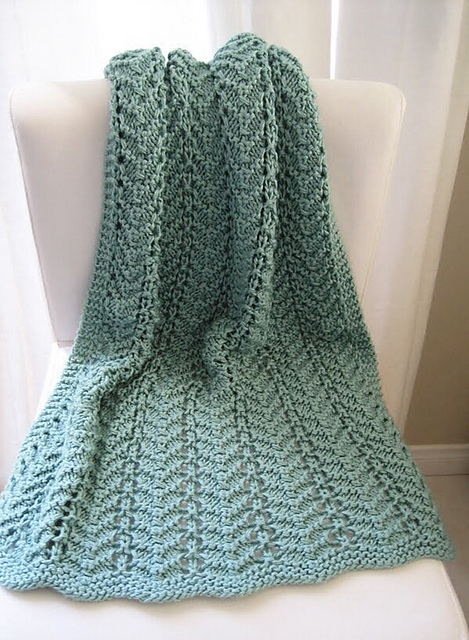 Knitting Patterns Galore Easy Lacy Baby Blanket