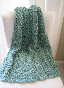 Easy Lacy Baby Blanket