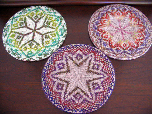 Knitting Patterns Galore - Three Tams