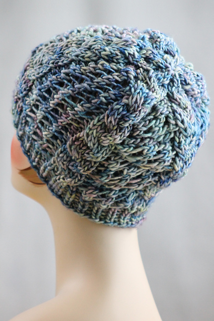 Knitting Patterns Galore - Spring Shadows Hat