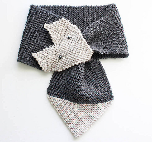 Knitting Pattern For Fox : Knitting Patterns Galore - Fox Scarf