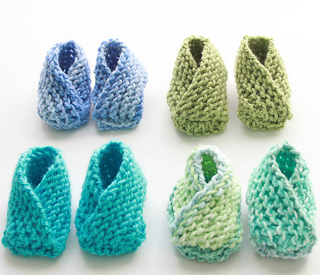 Knitting Patterns Galore Easiest Baby Booties Ever