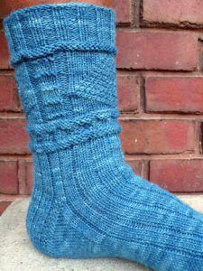 Lighthouse Gansey Socks