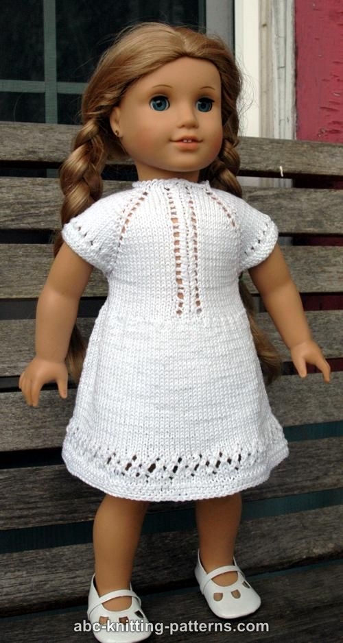 Free American Girl Doll Knitting Patterns : ABC Knitting Patterns - American Girl Doll Garter Stitch Scarf Crochet Toys...