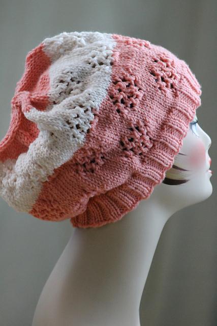 Knitting Patterns Galore Butterfly Eyelet Hat