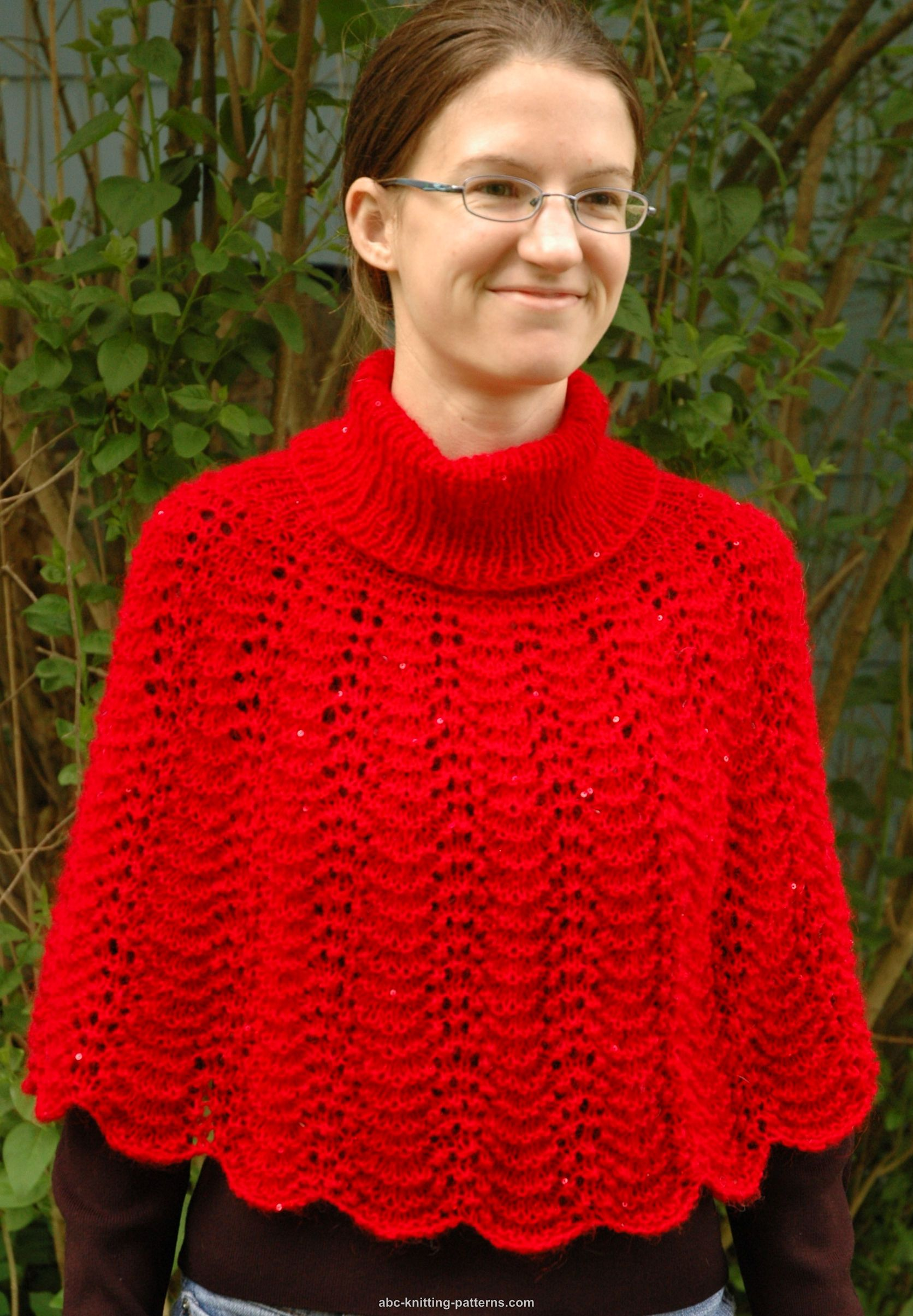 Knitting Patterns Galore - Little Red Riding Capelet