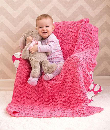 Knitting Patterns Galore Baby : Knitting Patterns Galore - Knit Chevron Baby Blanket