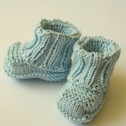 No sew baby booties