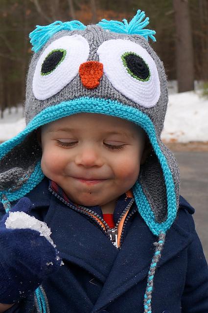 Knitting Patterns Galore Owl Hat