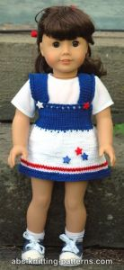 American Girl Doll 4th of July Jumper